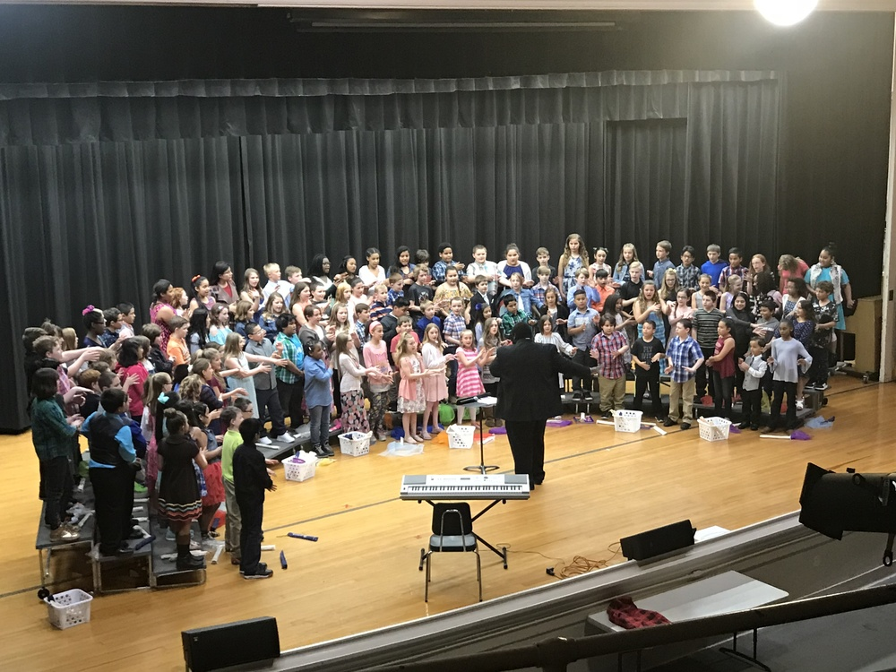 "Fourth Graders Perform ""World Music"""