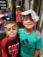 Mrs. Stock's Students Design Hats
