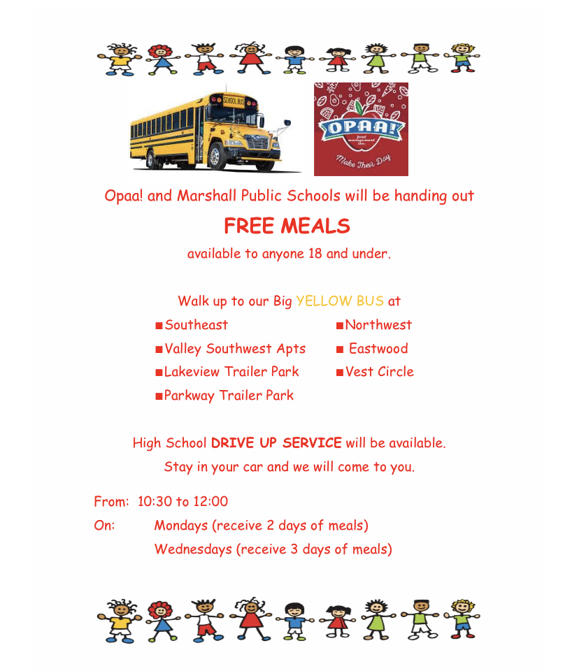 Free Meals anyone 18 and under