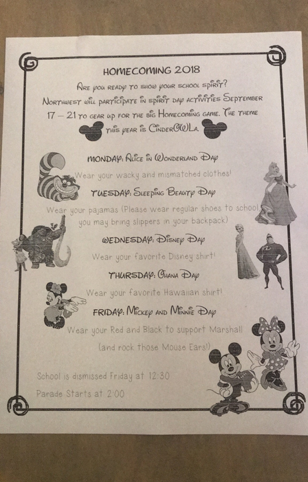 Homecoming dress up days!!