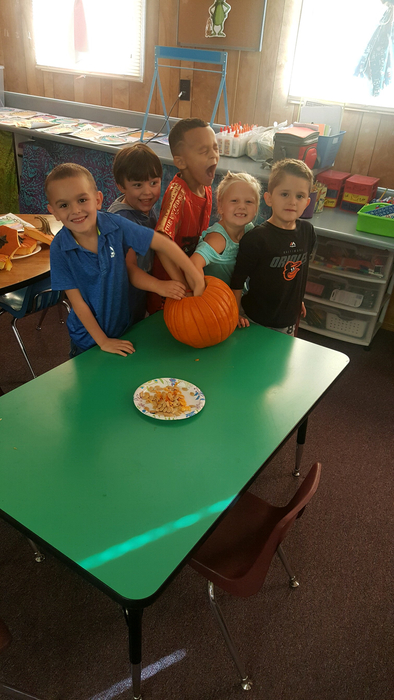 Learning about the five senses with pumpkins at Northwest kindergarten!