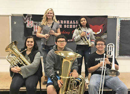 MHS students selected for All-District Honorable Mention Band