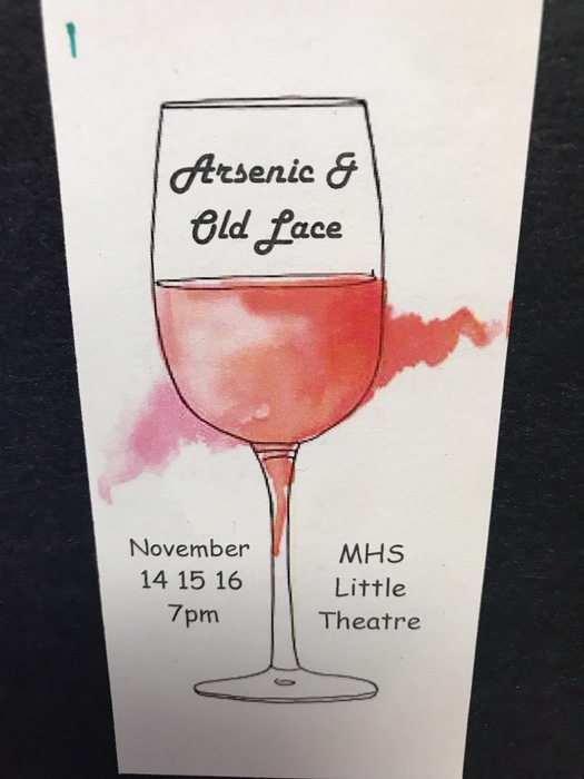 Arsenic and Old Lace, showing Nov. 14-16 at 7 pm