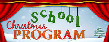 1st and 2nd grade Christmas program tomorrow!!