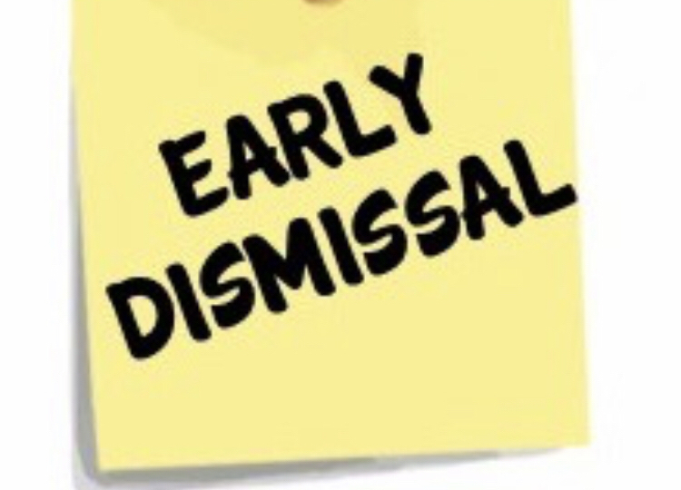 Reminder that tomorrow is an 12:30 dismissal!!