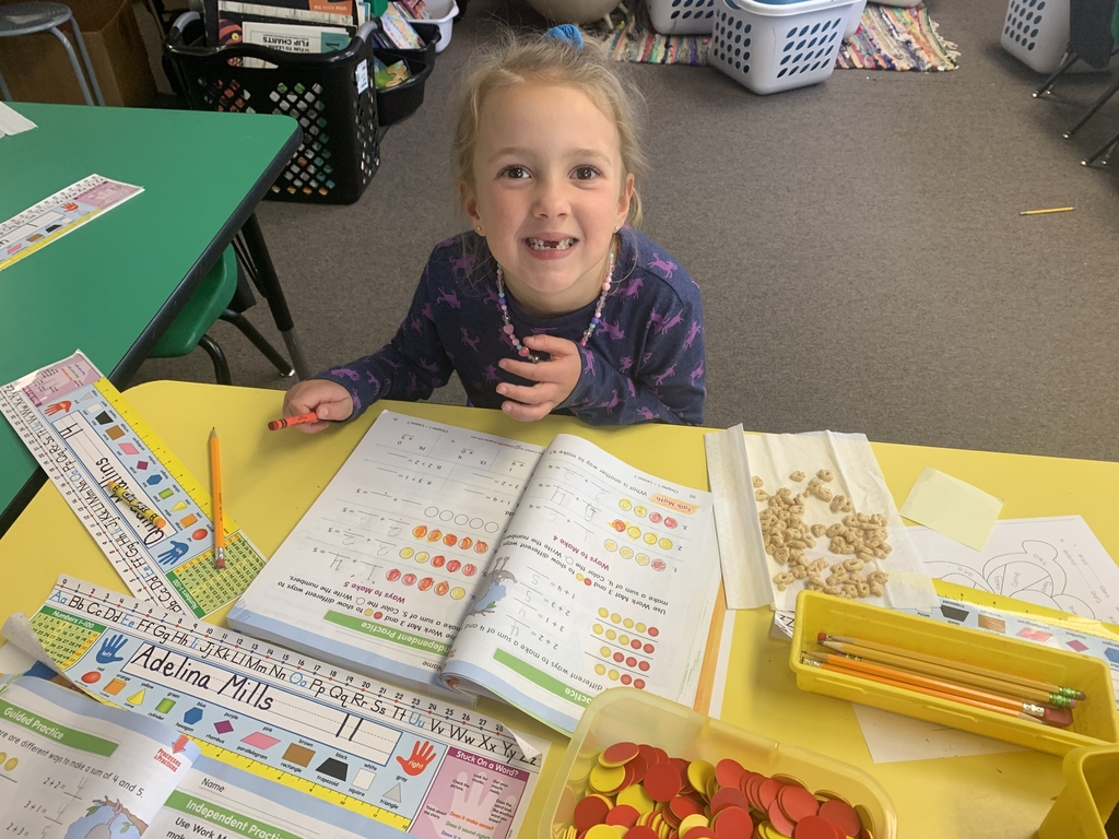 We love having snack time and working in our math books!
