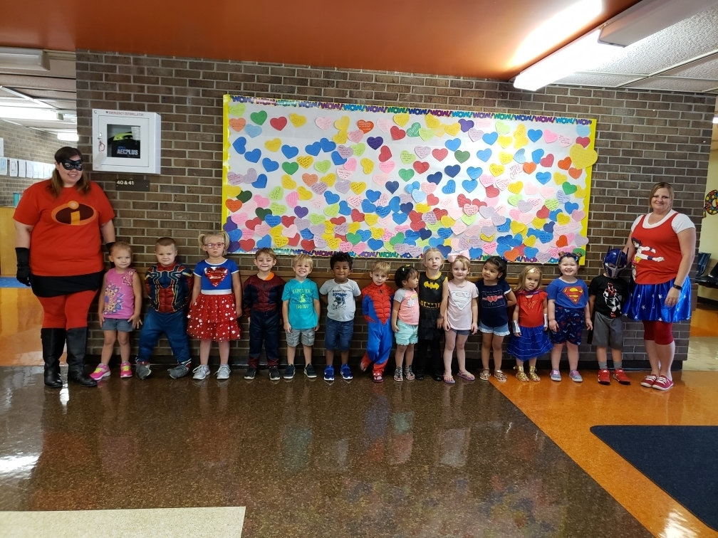 Early Childhood was extra SUPER yesterday with our Superheroes!!