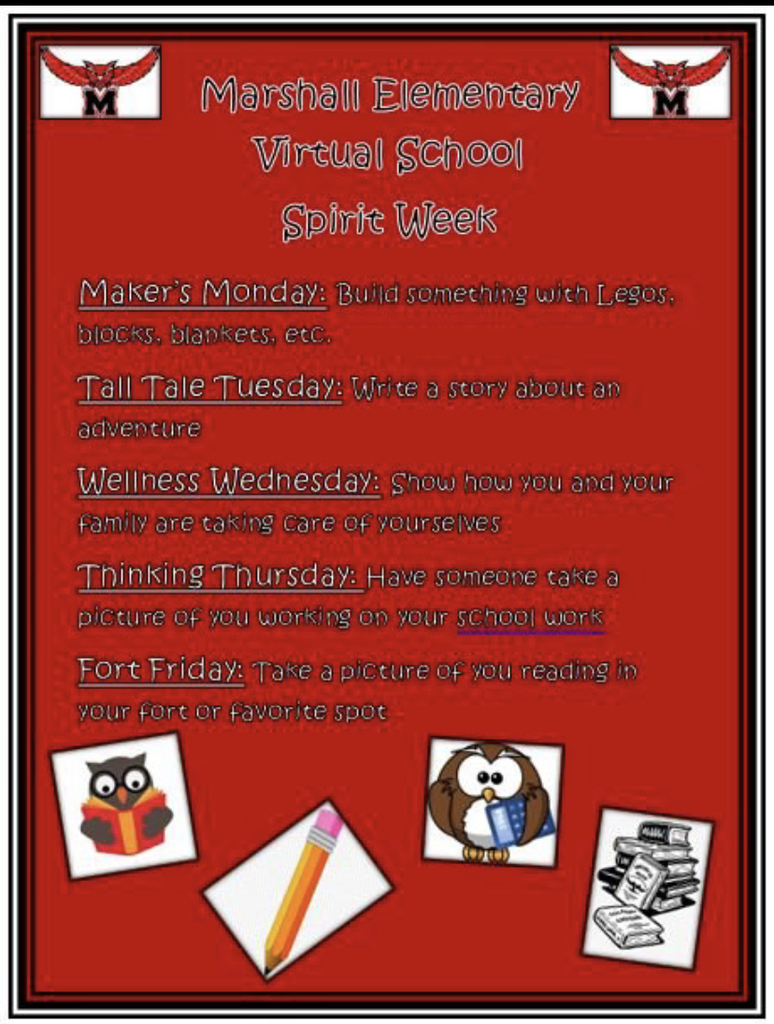 Virtual school spirit week