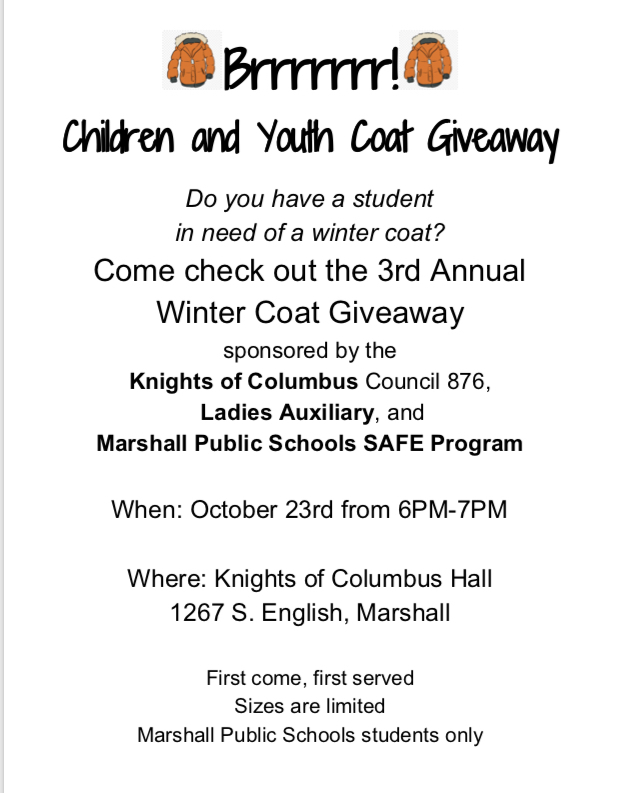 Free Coat Give Away TONIGHT!